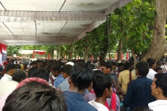 500+ trainees of Sunaina samriddhi foundation attending 1st Day of Gorakhpur Job Fair, many of them got selected in various Companies