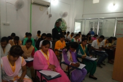 Glimpse of On-going Pradhan Mantri Kaushal Vikas Yojana (PMKVY) training & assessment at SUNAINA SAMRIDDHI FOUNDATION's