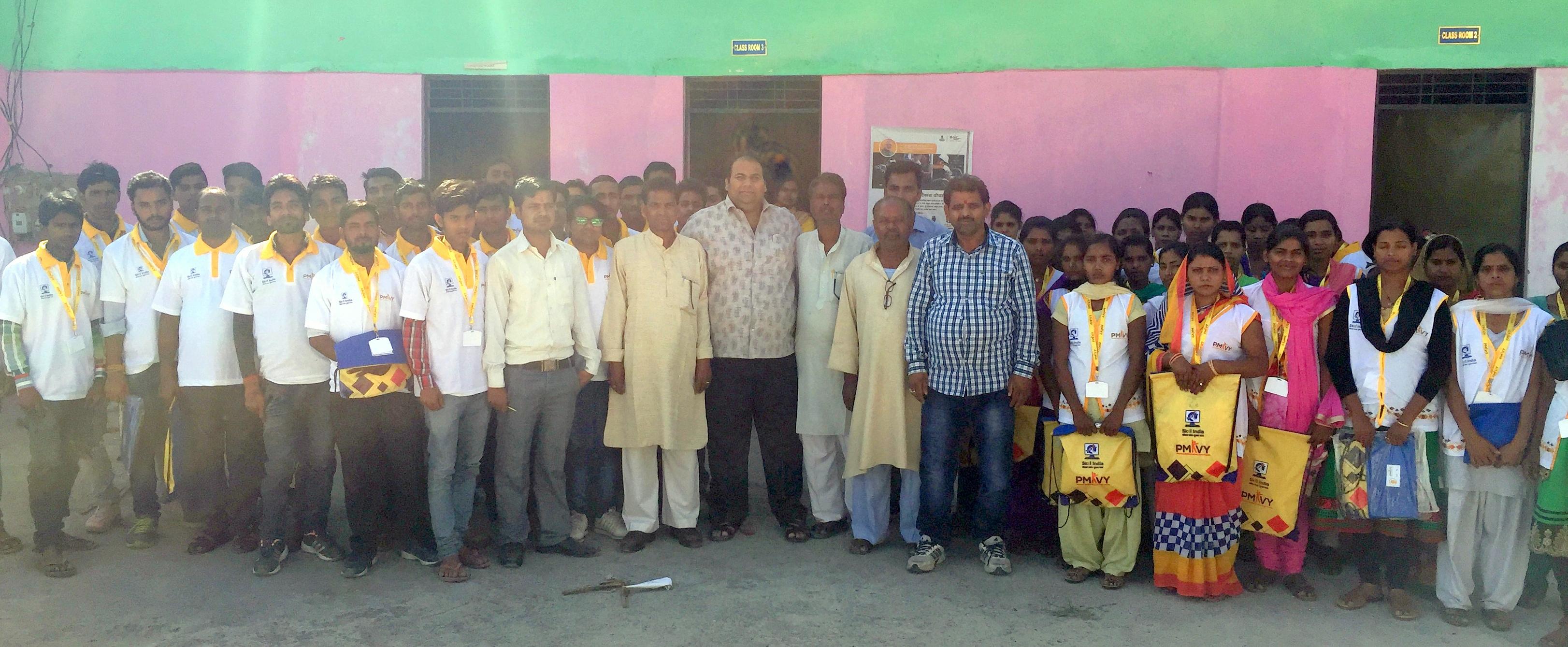 Orientation cum kit distribution ceremony organized in presence of dignitaries at our Kushinagar , SUNAINA SAMRIDDHI FOUNDATION