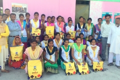 Orientation cum kit distribution ceremony organized in presence of dignitaries at our Kushinagar , SUNAINA SAMRIDDHI FOUNDATION