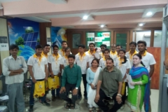 Happy faces of our Solar Panel Installation trainees after receiving PMKVY Induction kits @ Allahabad Centre