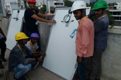Our Trainees (Solar Panel Installation Technician) of Allahabad Centre undergoing On-Site Hands on Training under PMKVY